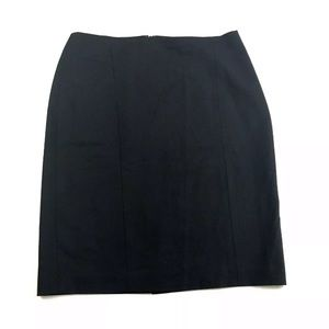 Ann Taylor Black Stretch Pencil Skirt Size 8
